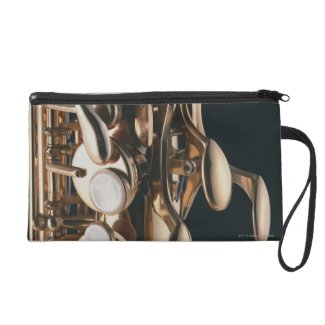 Saxophone 5 wristlet clutches