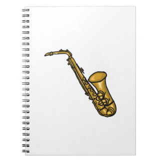 saxophone abstract detailed.png spiral notebook