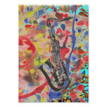 Saxophone Abstract Poster