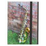Saxophone Against Brick iPad Folio Case