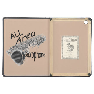 """""""SAXOPHONE ALL AREA"""" Phone Covers IN ANY COLOR iPad Air Case"""