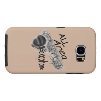 """""""SAXOPHONE ALL AREA"""" Phone Covers IN ANY COLOR Samsung Galaxy S6 Cases"""