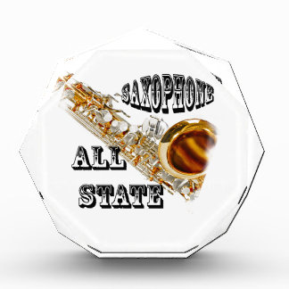 """SAXOPHONE ALL STATE"" Award Plaque IN ANY COLOR"