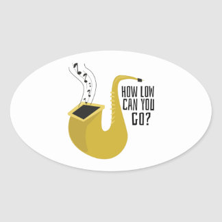 Saxophone, alto, horn, instrument, music, hobby, h oval sticker