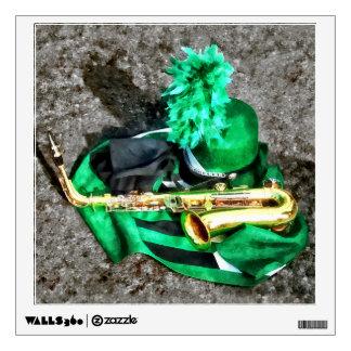 Saxophone and Band Uniform Wall Sticker