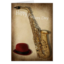 Saxophone and hat card