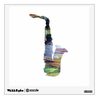 Saxophone Art Wall Sticker