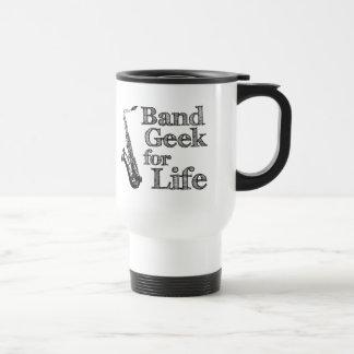 Saxophone Band Geek 15 Oz Stainless Steel Travel Mug