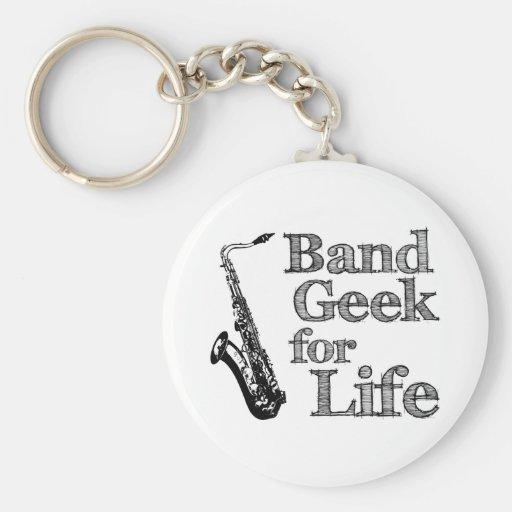 Saxophone Band Geek Key Chains