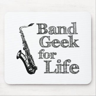 Saxophone Band Geek Mouse Pad
