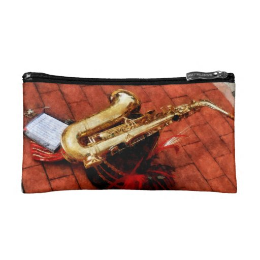 Saxophone Before the Parade Cosmetic Bag