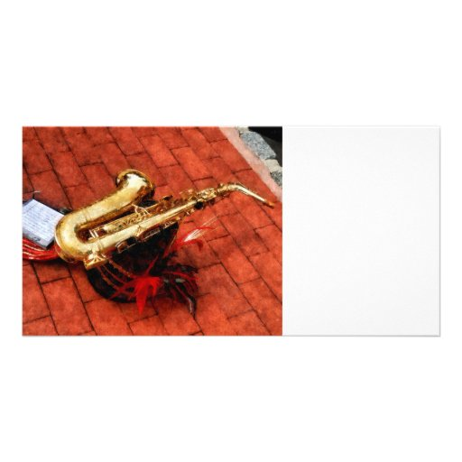 Saxophone Before the Parade Photo Greeting Card