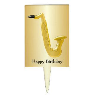 Saxophone Birthday Cake Topper