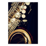 Saxophone Birthday Greeting Card