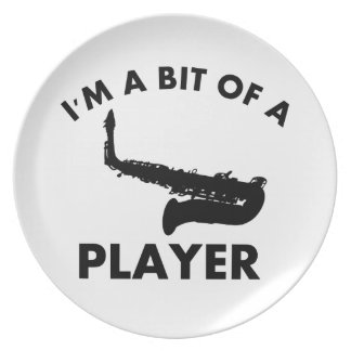 saxophone bit of a player musical designs dinner plate