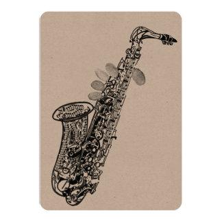 Saxophone blank card