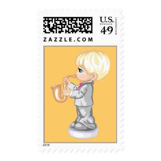 Saxophone Boy Stamp