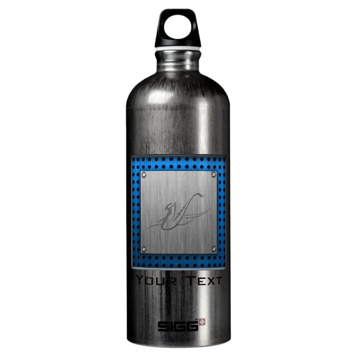 Saxophone; Brushed metal-look SIGG Traveler 1.0L Water Bottle