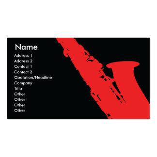 Saxophone - Business Business Card Templates