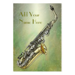 Saxophone Business Card Template