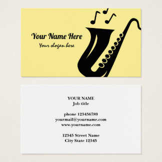 Saxophone business card template for musician