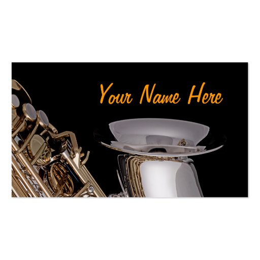 Saxophone Business Cards