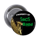 Saxophone Button for Band