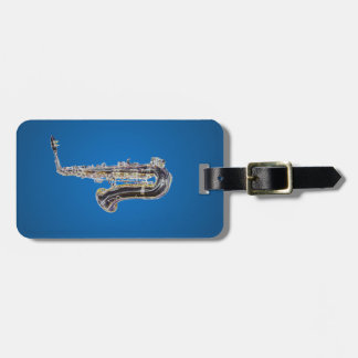 Saxophone cartoon travel bag tags