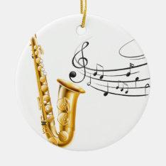 Saxophone Ceramic Ornament at Zazzle