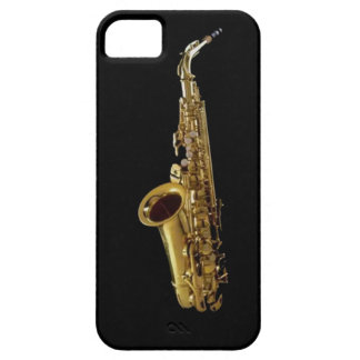 Saxophone Charcoal Background ~ Sax iPhone SE/5/5s Case