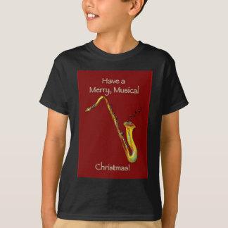 Saxophone Christmas T-Shirt