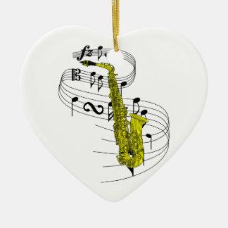 Saxophone Christmas Tree Ornaments