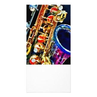 Saxophone Closeup Photo Card