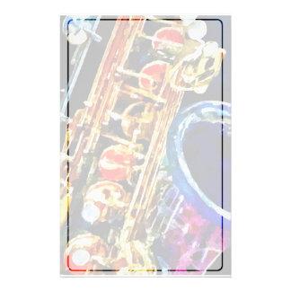 Saxophone Closeup Stationery