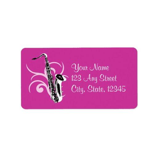 Saxophone Color Custom Address Labels