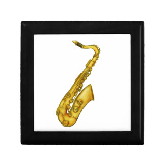 Saxophone colored sketch gift box