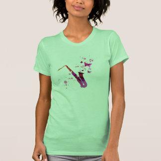Saxophone cute music and butterflies T-Shirt