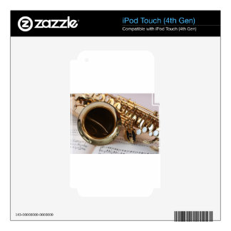saxophone decal for iPod touch 4G