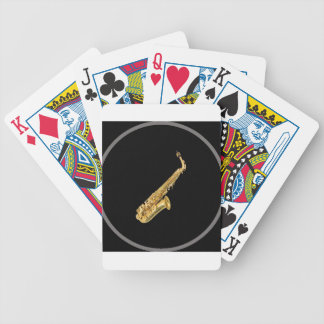 """Saxophone"" design gifts and products Bicycle Playing Cards"