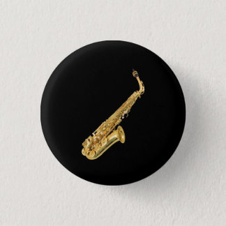 """Saxophone"" design gifts and products Pinback Button"