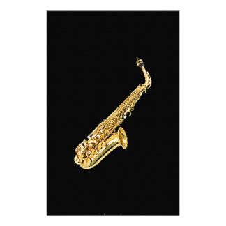 """""""Saxophone"""" design gifts and products Stationery"""