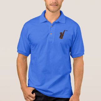 Saxophone design polo shirt
