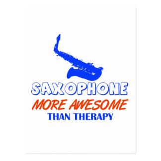 saxophone design postcard