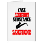 saxophone designs greeting card