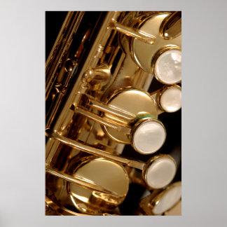 saxophone detail print