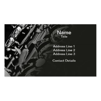 Saxophone Double-Sided Standard Business Cards (Pack Of 100)