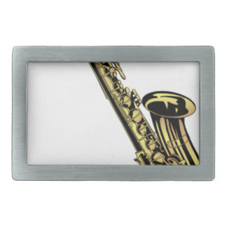 Saxophone Drawing Belt Buckle