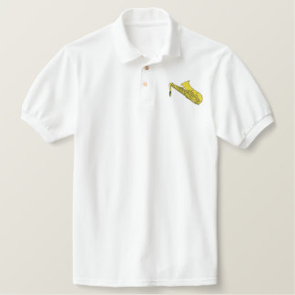 Saxophone Embroidered Polo Shirt