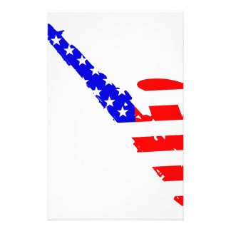 Saxophone Flag Background Stationery