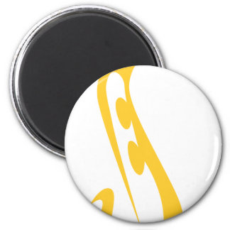 Saxophone for Saxophonist's Logo in Swish Drawing Magnet